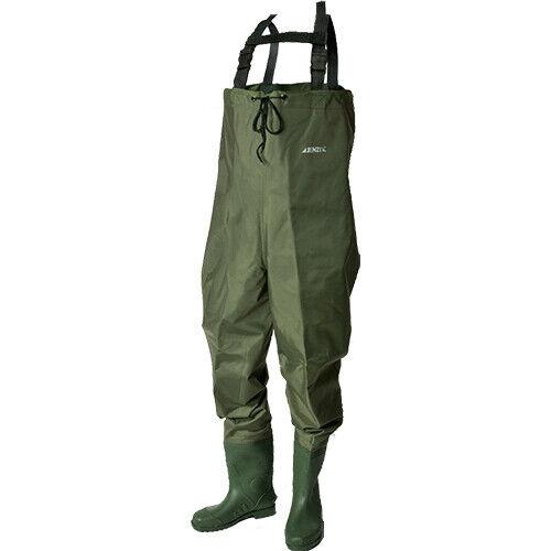 JENZI Impermeabili addominale dimensioni NYLON PVC Angel Accessori Pesca Pantaloni tasca interna