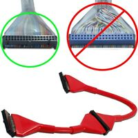 18inch/1.5ft Dual/2 Device Fd/floppy/fdd Drive Round 34pin Cable/cord/wire {red