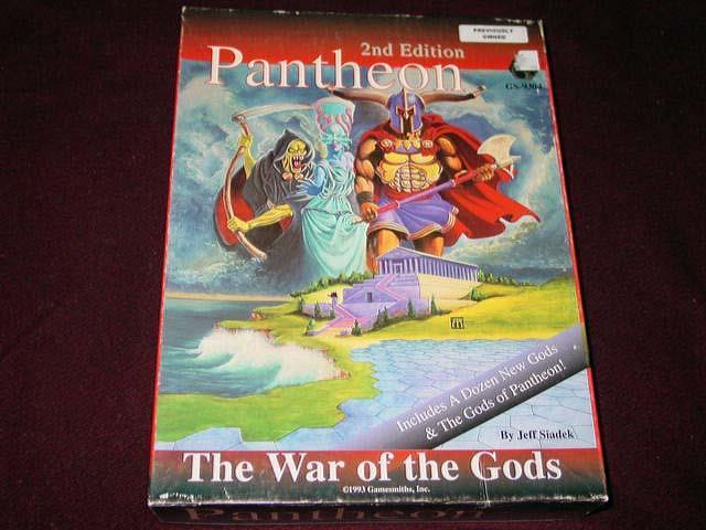 Gamesmiths Inc - Pantheon - The War of the Gods  2nd Edition (UNPUNCHED) (RARE)