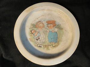 Antique-Buffalo-Pottery-Dolly-Dingles-Child-039-s-Dish