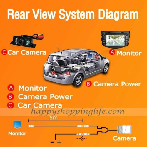 360 Degree Rotation Universal Waterproof Car Front View Camera Side View Cameras