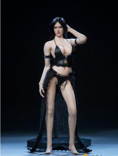 1//6 Female Seamless figurine avec cheveux noir tête pour PHICEN L buste Bronzage ❶ USA ❶