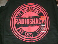 Radio Shack T-shirt Large Black broadcast Radio Shack T-shirt W/tag