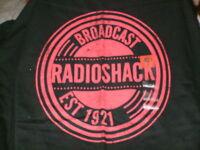 Radio Shack T-shirt Large Black broadcast Radio Shack T-shirt W/tag