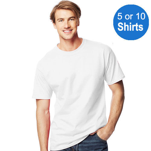 5 or 10 hanes beefy t tall tagless t shirt 100 cotton