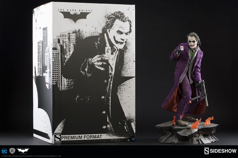 Batman The Dark Knight THE JOKER Heath Ledger Premium Format Sideshow Statue