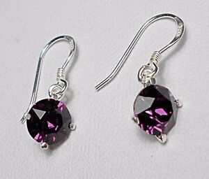 925-St-silver-earrings-made-with-039-amethyst-039-Swarovski-crystals