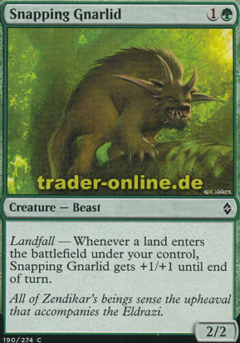 Battle for Zendikar Magic Schnappender Knurrer 4x Snapping Gnarlid