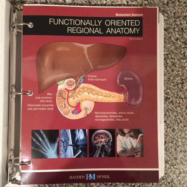 Functionally Oriented Regional Anatomy By M Samsam 3rd Ed Loose