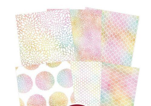 """6 Tarjeta De Diseñador Hunkydory Arco Iris Radiance hermosos espacios en blanco de 7/"""" X 5/"""" o 6/"""" SQ nuevo"""