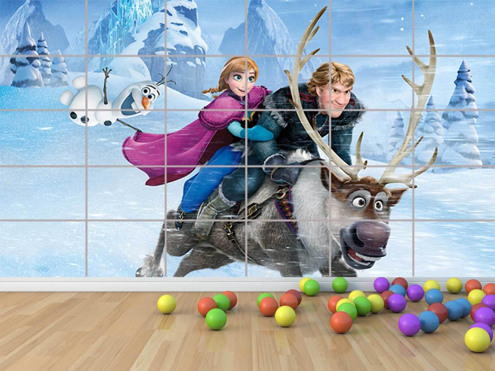 Gefrorene reine des neiges 03 geant - poster chambre enfants zimmer kinder
