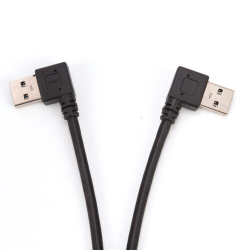 USB 3.0 Angle 90 Degree Extension Cable Male to Female Adapter Cord Data Fad US