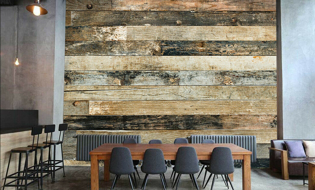 3D Mottled Wood 45 Wall Paper Wall Print Decal Wall Deco Indoor Wall Murals