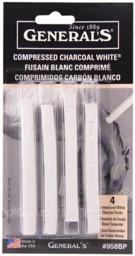 General/'s Compressed Charcoal Sticks White 958BP