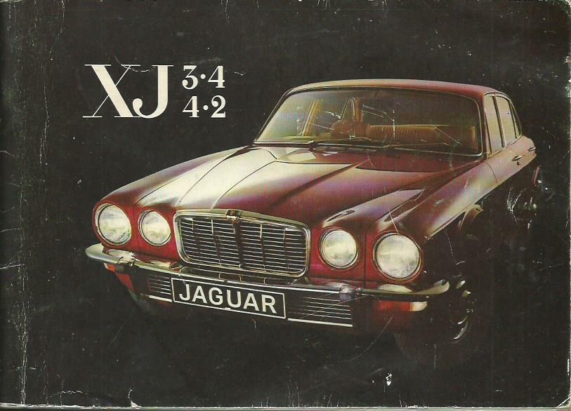 JAGUAR  XJ   3.4    4.2 Betriebsanleitung 1976 Bedienungsanleitung Handbuch BA