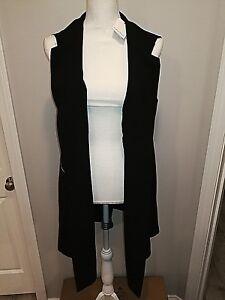 Plus maniche Vest Cappotto maniche Nwt senza nero lunghe con Calvin 16w Klein CwnXqwzxvU