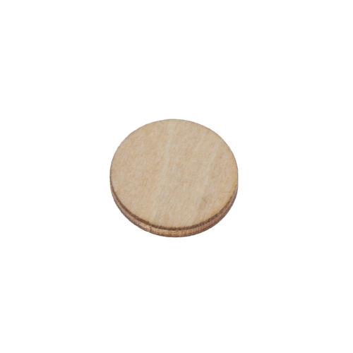 Unfinished Holz-Rundscheiben Schmuck DIY Rustic Art Crafts 10-50mm PPAB
