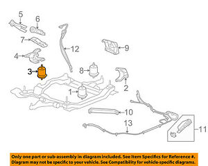 details about buick gm oem 2008 enclave engine motor mount torque strut 25857749diagram on how to put a serpentine belt