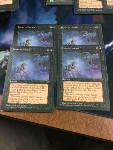 Magic MTG 4x Hymn to Tourach x4 Fallen Empires Version 1 Van Camp Wolf