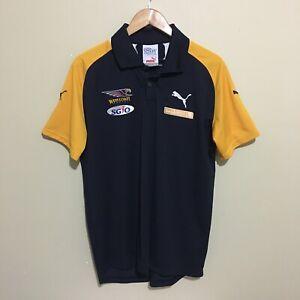 West-Coast-Eagles-Puma-AFL-Football-Polo-Shirt-Blue-Mens-Large