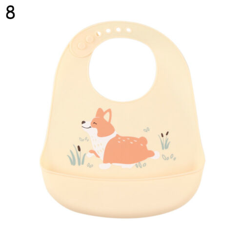 Children Saliva Towel Pick Rice Pocket Baby Silicone Bibs Feeding Kids Apron