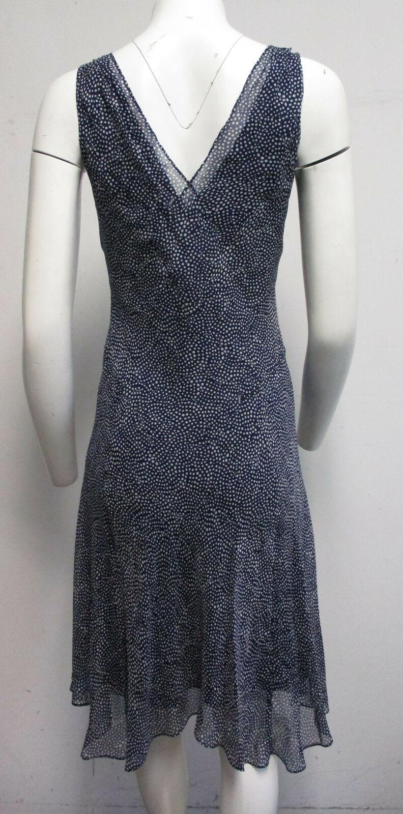 DIANE VON FURSTENBERG Dita 100% silk navy blue & … - image 5