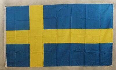 Schweden Flagge 250x 150 cm wetterfest Fahne Ösen Innen Außen große Hissflagge