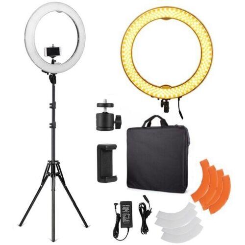 "18/"" 5500K Anillo de luz LED Regulable diva con base ajustable de Luz Difusor Kit"