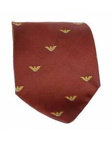 Armani-Tie-Vintage-Ages-90-Monogram-Silk-Brown
