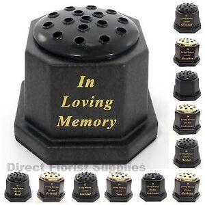 IN-LOVING-MEMORY-GRAVE-MEMORIAL-FLOWER-VASE-TRIBUTE-ASSORTED-RELATIVES
