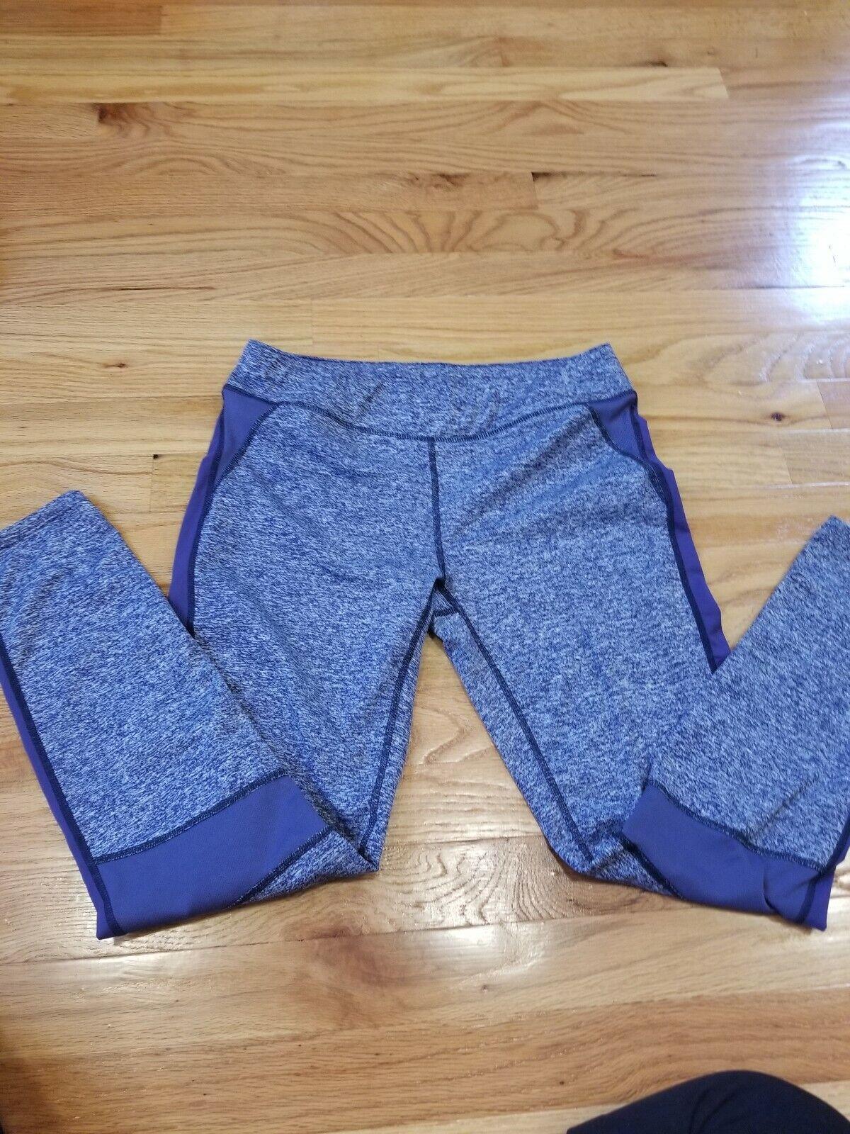 Oiselle Meter Tights Running Athletic Pants heather blue