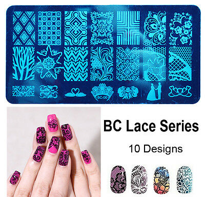 10 New Design DIY Nail Art Image Stamp Stamping Plates Manicure Template