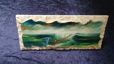 Parting the red sea oil Painting On Stone Jewish Art Judaica passover