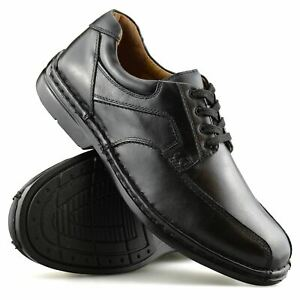 Mens-Hush-Puppies-Leather-Wide-Fit-Smart-Casual-Lace-Up-Work-Office-Shoes-Size
