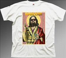The DUDE Dudeism Religion Big Lebowski ABIDE funny white cotton t-shirt 9901