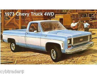 1973 Chevy Truck >> 1973 Chevrolet Truck 4 Wheel Drive Refrigerator Tool Box Magnet Ebay