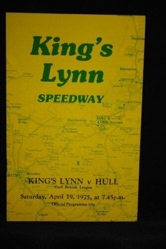 SPEEDWAY Kings Lynn vs Hull 19 Apr 1975