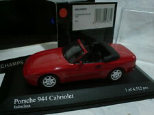 MINICHAMPS 1/43 PORSCHE 944 CABRIOLET 1991 RED