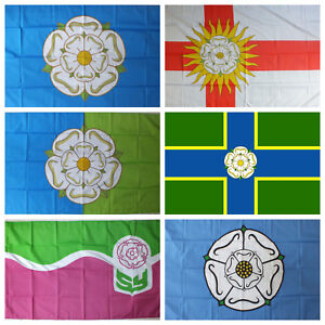 """South Yorkshire 3M Bunting With 10 Flags 9/""""X6/"""" English County Region"""