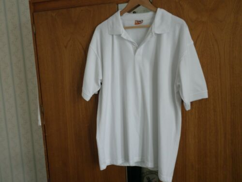 T White shirt New in Plus Sleeve Size Tops Mens In 2xl Polo Short RRw0a6Aq