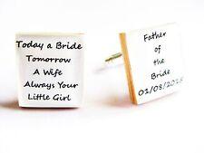 Father of the Bride Cufflinks Custom wedding cufflinks personalised cufflinks