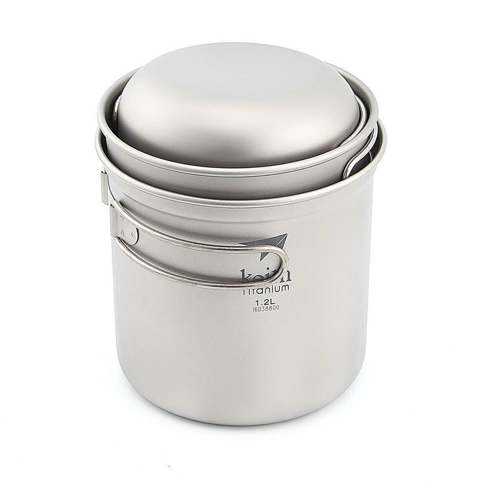 Keith Ti6052  Titanium Bowl Camping Cookware Outdoor Folding Pot Set  sale online