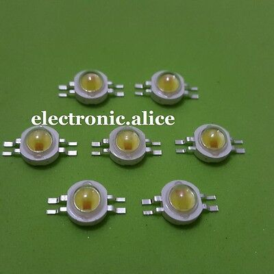 10pcs 2*1W 350mA High Power 2chip Mixed Color LED Yellow + Cool White led Chip