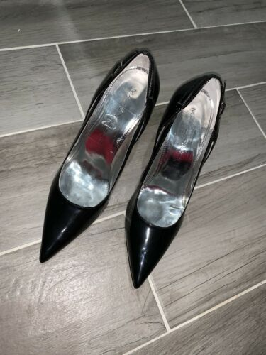 Marc Fisher Patent Leather Pointed Toe Pumps Black