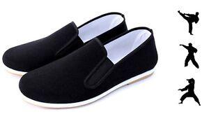 Kung Fu Schuhe mit Gummisohle Segeltuch Slipper Tai Chi Martial Arts Shoes 36-45