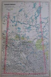 1919-MAP-DOMINION-OF-CANADA-SASKATCHEWAN-PASQUIA-HILLS-FOREST-PRINCE-ALBERT