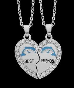 2-collane-ciondolo-cuore-da-separare-Migliori-amici-motivo-delfino-con-strass