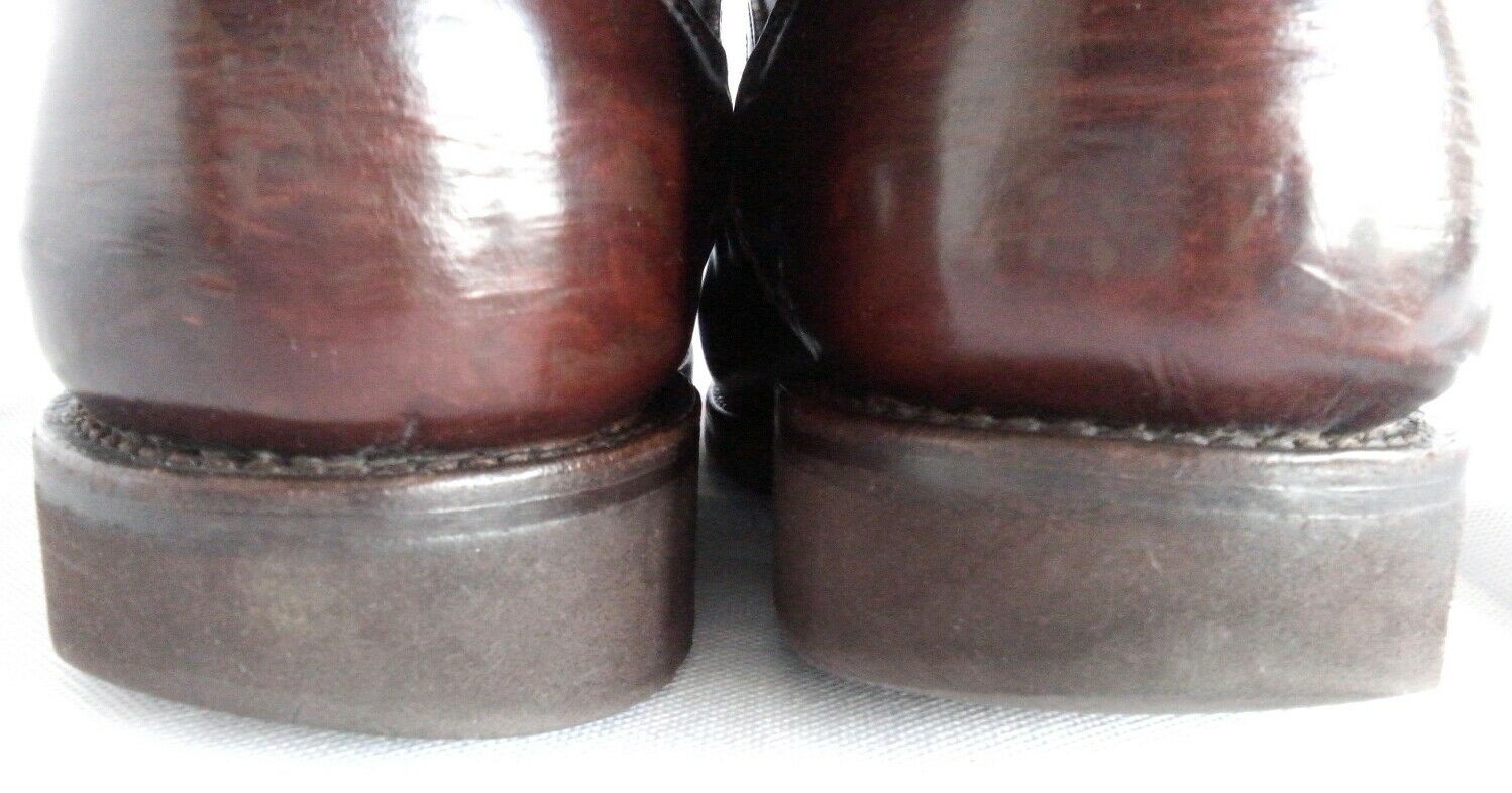 Allen Edmonds braun Leather Stiefel Stiefel Stiefel Vibram sole US 7 Extra Wide Fit like UK 6.5 7 bed8f0