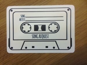 10 Vintage Shabby Chic Style Cassette Tape Song Request Cards For