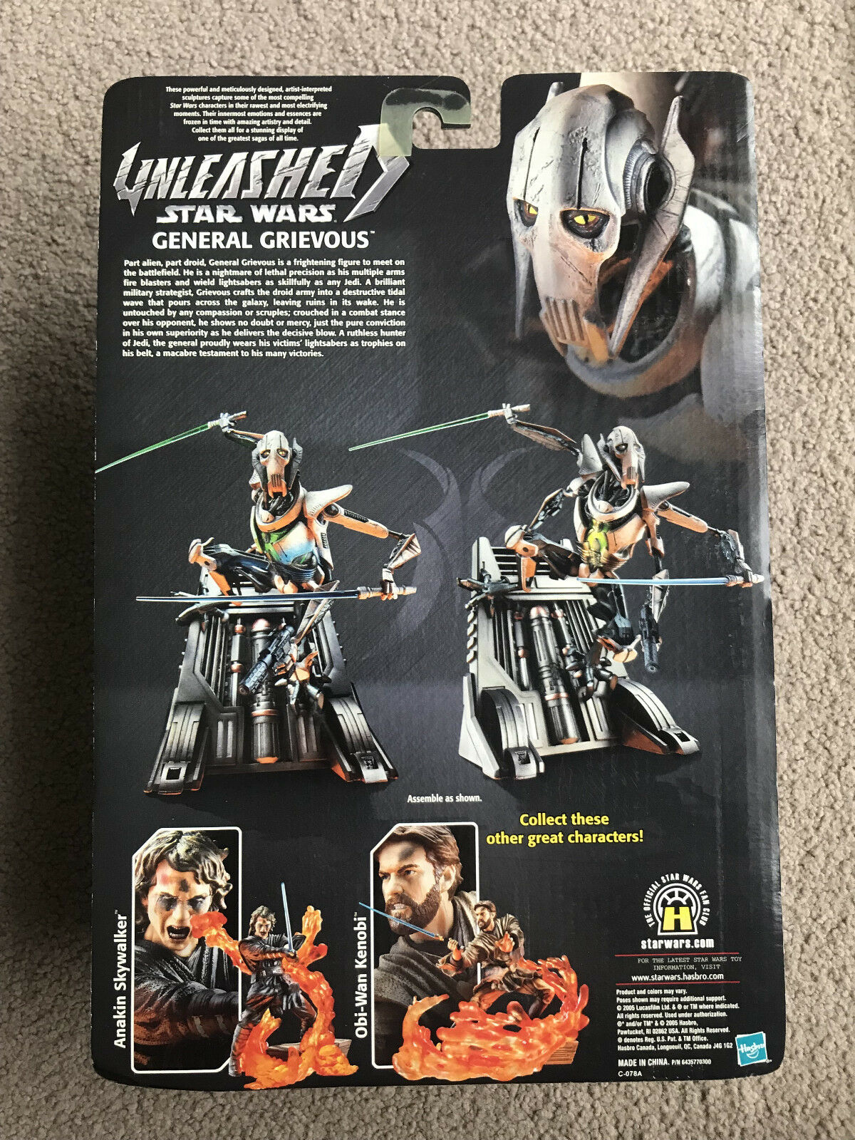 Star Wars Unleashed GENERAL GRIEVOUS Action Figure Episode III - - - New in box fd8299